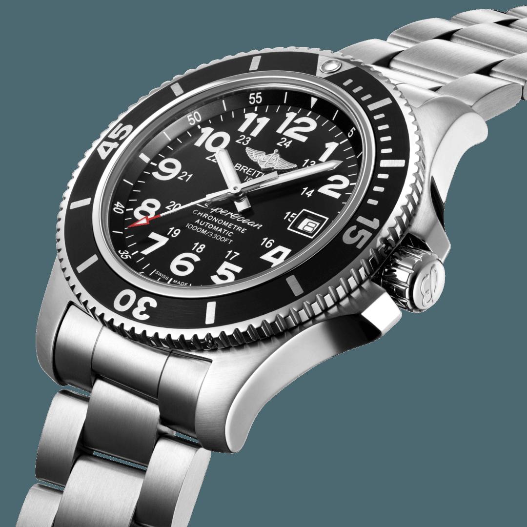 Breitling Men's Superocean II 44, Stainless Steel, Black dial, A17392D71B1A1