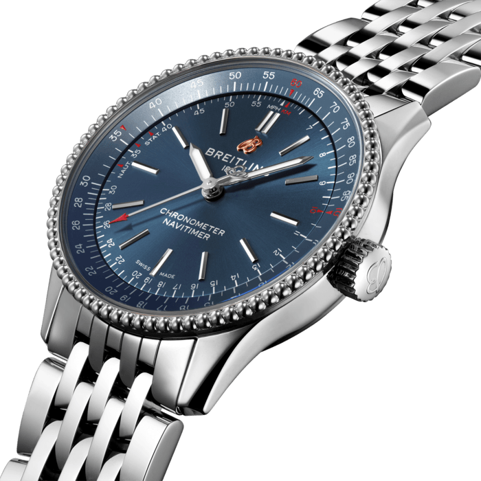 Breitling Navitimer Automatic 35, Stainless Steel, 35mm, Blue dial, A17395161C1A1