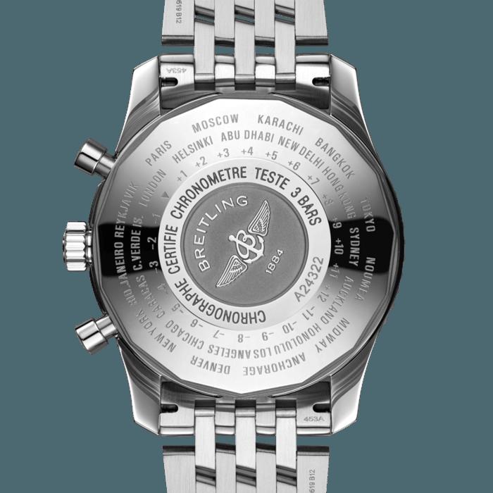 Breitling Navitimer Chronograph GMT 46, Black dial, A24322121B1A1