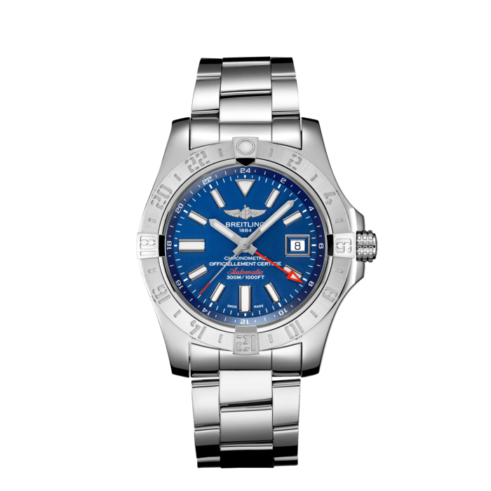 "Breitling Avenger II GMT, Stainless Steel, 43mm, ""Mariner Blue"" dial, A32390111C1A1"