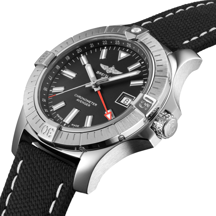 Breitling Avenger Automatic GMT 43, Stainless Steel, Black dial, A32397101B1X1