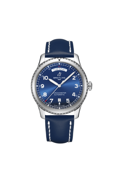 Breitling Aviator 8 Automatic Day & Date 41, Stainless Steel, Blue dial, A45330101C1X5