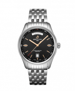 Breitling Premier Automatic Day & Date 40, Stainless Steel, 40mm, Black dial, A45340241B1A1