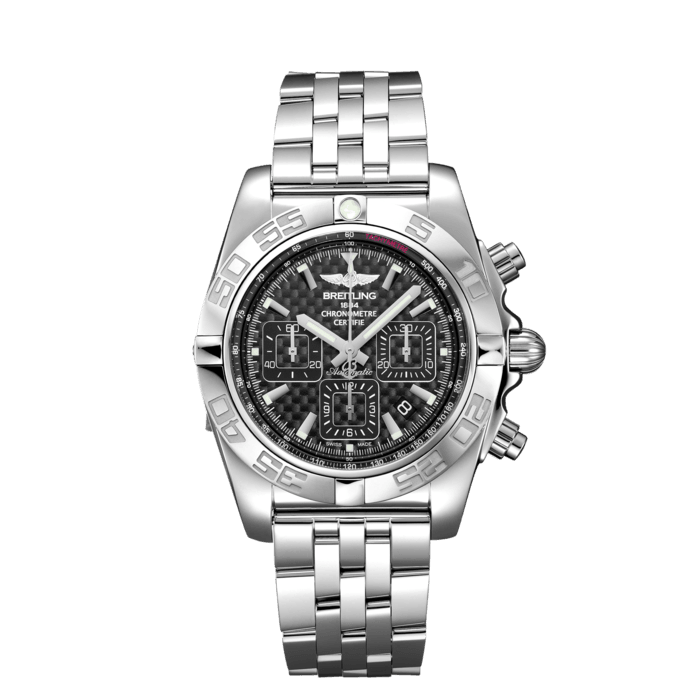 Breitling Chronomat 44, Stainless Steel, Carbon dial, AB0110121B2A1