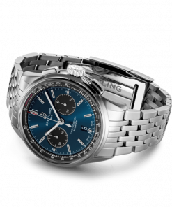 Breitling Premier B01 Chronograph 42, Stainless Steel, Blue dial, AB0118221C1A1