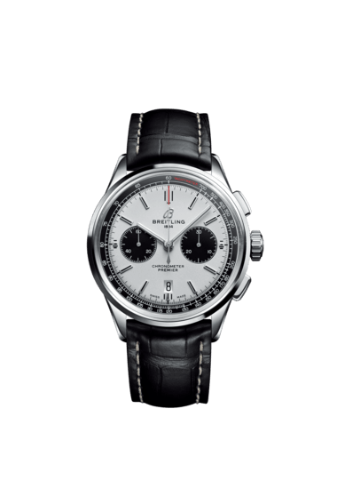 Breitling Premier B01 Chronograph 42, Stainless Steel, Silver 'Panda' dial, AB0118221G1P1