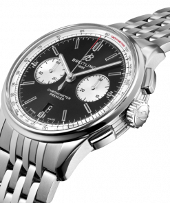 Breitling Premier B01 Chronograph 42, Stainless Steel, Black dial, AB0118371B1A1