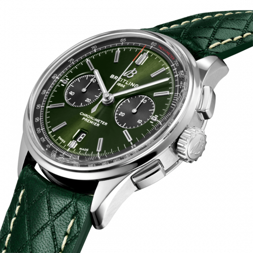 Breitling Premier B01 Chronograph 42 Bentley British Racing Green, Stainless Steel, Green dial, AB0118A11L1X1