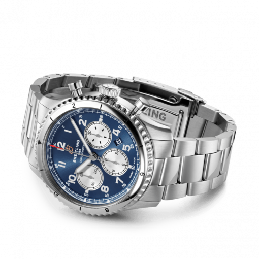 Breitling Aviator 8 B01 Chronograph 43, Stainless Steel, Blue dial, AB0119131C1A1