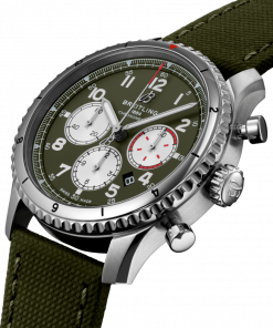Breitling Aviator 8 B01 Chronograph 43 Curtiss Warhawk, Stainless Steel, Military green dial, AB01192A1L1X1
