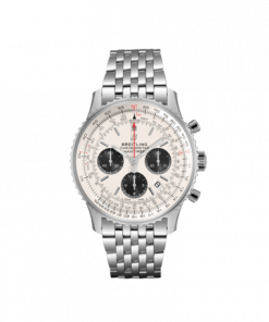 Breitling Navitimer B01 Chronograph 43, Stainless Steel, Mercury Silver dial, AB0121211G1A1