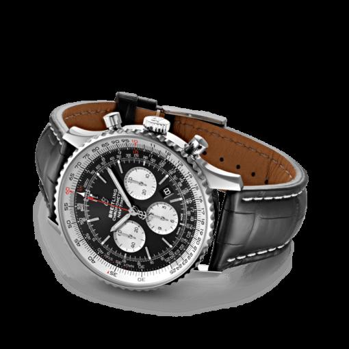 Breitling Navitimer B01 Chronograph 46, Stainless Steel, Black dial, AB0127211B1P1