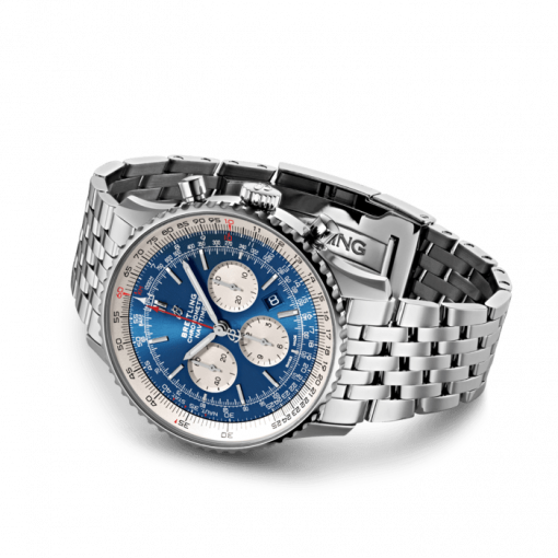 Breitling Navitimer B01 Chronograph 46, Stainless Steel, Aurora blue dial, AB0127211C1A1