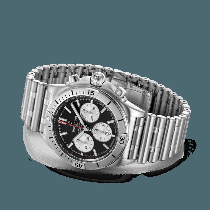 Breitling Chronomat B01 42, Stainless Steel, Black dial, AB0134101B1A1