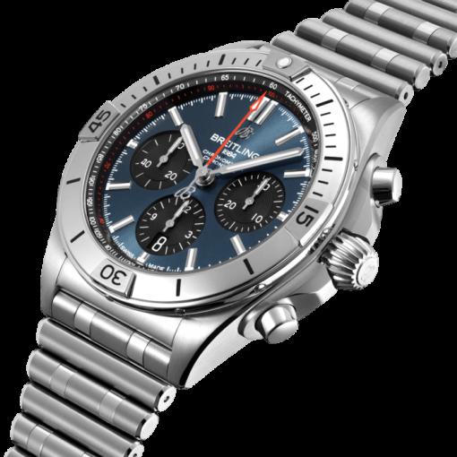 Breitling Chronomat B01 42, Stainless Steel, Blue dial, AB0134101C1A1