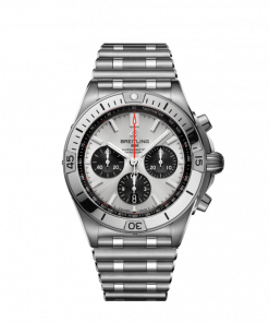 Breitling Chronomat B01 42, Stainless Steel, Silver dial, AB0134101G1A1