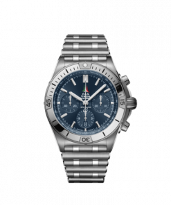Breitling Chronomat B01 42 Frecce Tricolori Limited Edition, Stainless Steel, Blue dial, AB01344A1C1A1