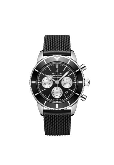 Breitling Superocean Heritage B01 Chronograph 44, Stainless Steel, 44mm, Black dial, AB0162121B1S1
