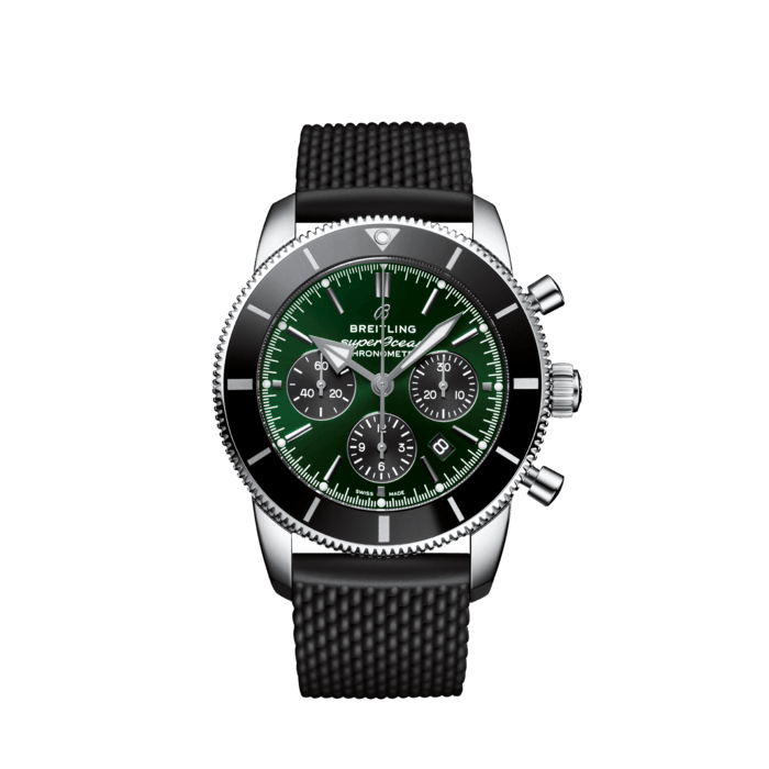 Breitling Superocean Heritage B01 Chronograph 44 Limited Edition, Stainless Steel, 44mm, Green dial, AB01621A1L1S1