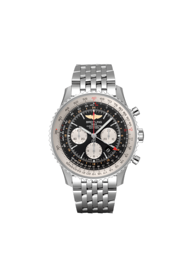 Breitling Navitimer B04 Chronograph GMT 48, Stainless Steel, Black dial, AB0441211B1A1