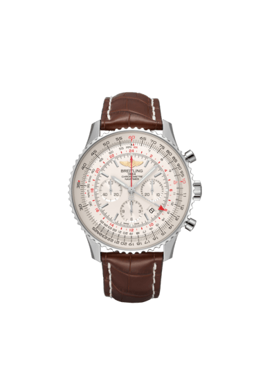 Breitling Navitimer B04 Chronograph GMT 48, Stainless Steel, Mercury silver dial, AB0441211G1P1