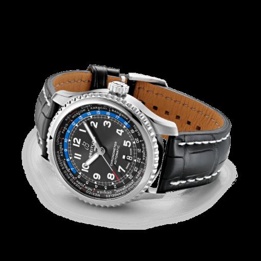 Breitling Aviator 8 B35 Automatic Unitime 43, Stainless Steel, Black dial, AB3521U41B1P1