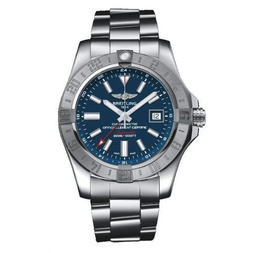 Breitling Watches Avenger II GMT Stainless Steel Bracelet A3239011/C872