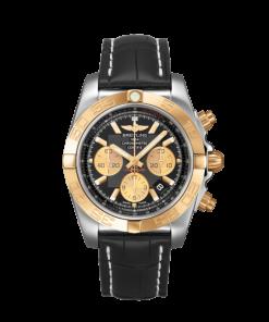 Breitling Chronomat 44, Stainless Steel and 18k Rose Gold, Black dial, CB0110121B1P1