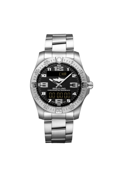 Breitling Men's Aerospace Evo, 43mm, Titanium, Volcano Black Dial, E79363101B1E1