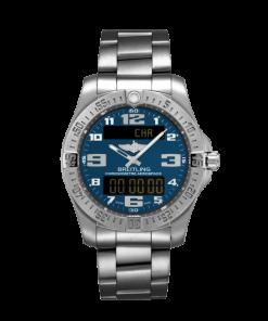 Breitling Men's Aerospace Evo, 43mm, Titanium, Mariner Blue Dial, E79363101C1E1