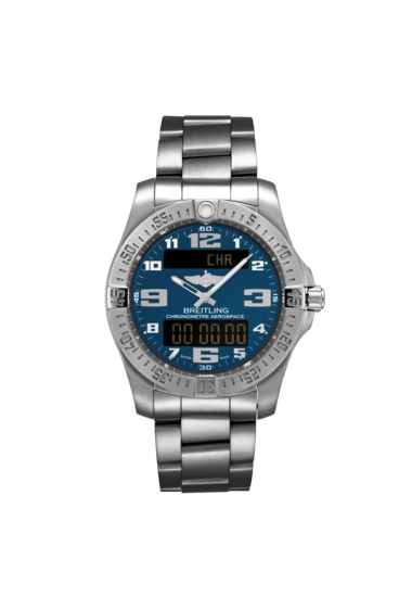 Breitling Men's Aerospace Evo, 43mm, Titanium, Mariner Blue Dial, E79363101C1E1