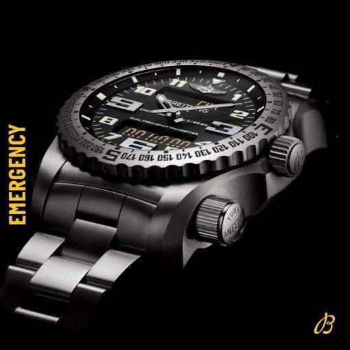 Breitling Men's EMERGENCY, black Titanium case, Volcano Black Dial, V7632522/BC46/156S/V20DSA.4