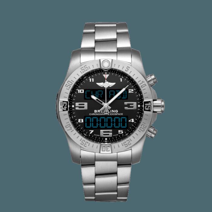"Breitling Exospace B55, Brushed finished titanium, ""Volcano"" black dial, 46mm, EB5510H11B1E1"