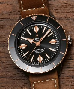 Breitling Superocean Heritage'57, 42mm, Stainless Steel and 18K Red Gold Black dial, U10370121B1X1