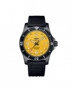 Breitling Superocean Automatic 46 Black Steel, 46mm, Yellow dial, M17368D71I1S2