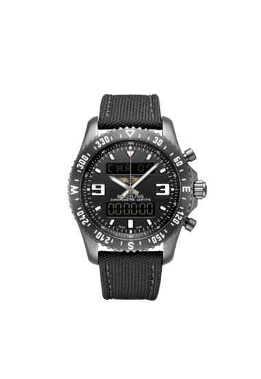 "Breitling Chronospace Military, Breitling Blacksteel Steel, ""Volcano"" black dial, 46mm, M78367101B1W1"