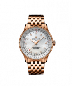 Breitling Navitimer Automatic 35, 18K Rose Gold, Mother-Of-Pearl dial, 35mm, R17395211A1R1