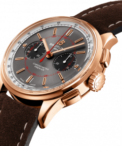 Breitling Premier B01 Chronograph 42 Wheels and Wales Limited Edition, 18k Red Gold, 40mm, Anthracite dial, RB0118A31B1X1