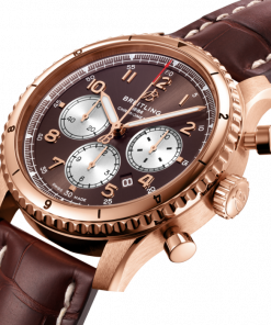 Breitling Aviator 8 B01 Chronograph 43, 18k Rose Gold, Bronze dial, RB0119131Q1P1