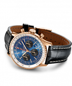 Breitling Navitimer B01 Chronograph 43, 18K Rose Gold, Blue dial, 43mm, RB0121211C1P3