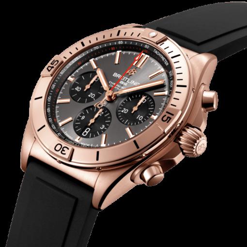 Breitling Chronomat B01 42, 18k Rose Gold, Anthracite grey dial, RB0134101B1S1