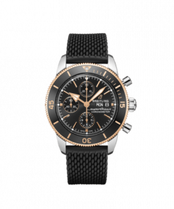 Breitling Superocean Heritage Chronograph 44, Stainless Steel and 18K Red Gold Black dial, U13313121B1S1