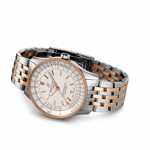 Breitling Navitimer Automatic 41, Stainless Steel and 18K Red Gold, Silver dial, 41mm, U17326211G1U1