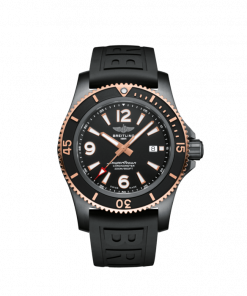 Breitling Superocean Automatic 46 Black Steel, DLC-Coated Stainless Steel and 18K Red Gold Black dial, U17368221B1S1