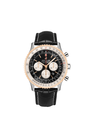 Breitling Navitimer B01 Chronograph 46, Stainless Steel and 18K Red Gold, Black dial, 46mm, UB0127211B1P2