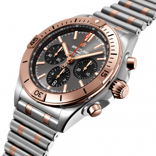 Breitling Chronomat B01 42, Stainless Steel and 18k Red Gold, Anthracite grey dial, UB0134101B1U1