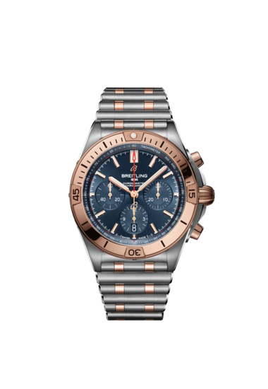 Breitling Chronomat B01 42, Stainless Steel and 18k Red Gold, Blue dial, UB0134101C1U1