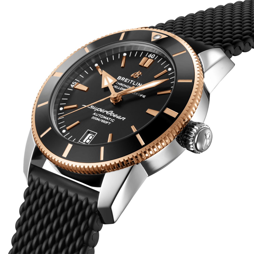 Breitling Superocean Heritage B20 Automatic 42, Stainless Steel and 18K Red Gold Black dial, UB2010121B1S1