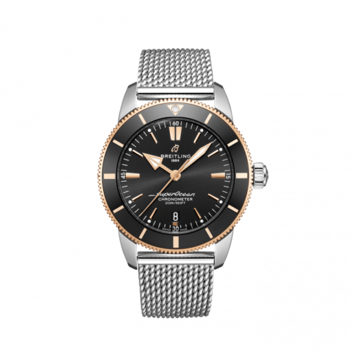 Breitling Superocean Heritage B20 Automatic 44, Stainless Steel and 18K Red Gold Black dial, UB2030121B1A1