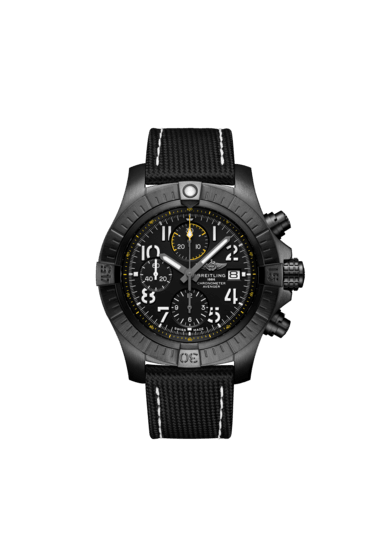 Breitling Avenger Chronograph 45 Night Mission, Black DLC coated titanium, 45mm, Black, V13317101B1X1